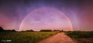 Rainbow sunset by NorbertKocsis