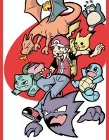 Pokemon Trainers - Red by Toug-2000