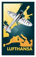 Lufthansa Poster by MercenaryGraphics