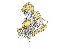 femme-Bee design sketch by chi-of-ink