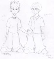 Mike and Chester-Linkin Park by saiyanprincessx