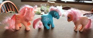 G1 ponies For Sale! These and more! by lupagreenwolf