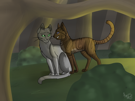 Art Trade with Kittylover2000 by isolato