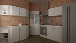 Waterhouse Townhouse design 1 - Kitchen by MattShadowwing