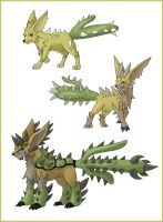 New fan game grass starters by shinyscyther