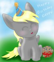Happy Birthday Derpy! by DragonsAndDreamscape