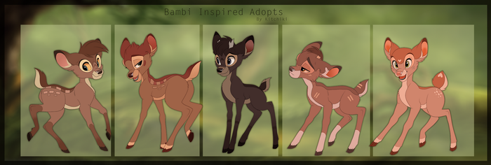 Bambi Style Adoptables by Kitchiki