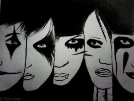 Andy, CC, Jake, Ashley, Jinxx by LightingDarkness