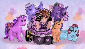 Sora give into the Ponies by GenkiTenshi