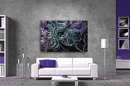 Spray painting Abstract  big size room simulation by Airgone