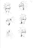 Renji Sketches by HarliquinMoon
