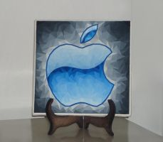 Apple logo -  ceramic tile by apbaron