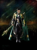 For the nine realms- Loki Laufeyson by waspany