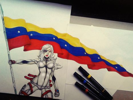 Venezuela warrior woman Xangyes by Kledefell