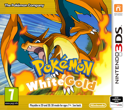 Nintendo 3DS Pokemon WhiteGold Cover by PatrickWCity