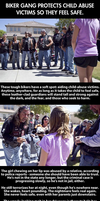 Cool bikers helping little kids by Michael-Taylor1134