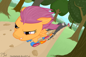 Cutie Mark Crusader Rocket Skate Racers by PisumSativum