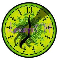Graphic Design - Haunted Mansion Clock - 2014 by Lokotei