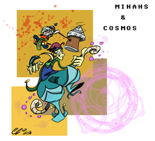 Art Trade - Mihahs and Cosmos by Zito-is-Neato