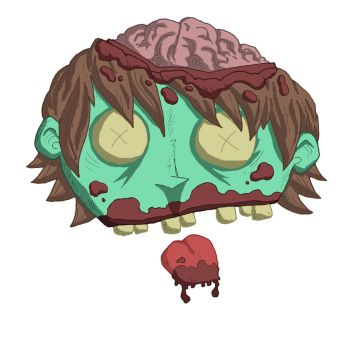 zombie head t-shirt design... by kangarookid