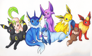 Eeveelutions Tribute V3 by Kainaa