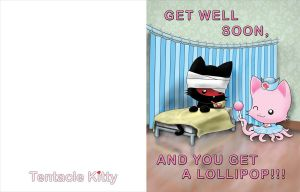 Nurse Tentacle Kitty Get Well Card by TentacleKitty