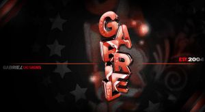 3D Typography - GabrielDesigns by TheNotoriousGAB