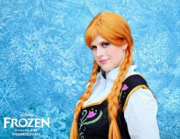 Anna of Arendelle from Frozen by prueee