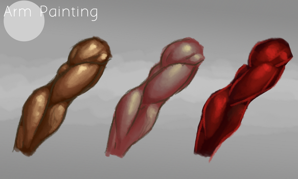 Arm Painting Practice by AnsAmanat