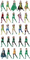 Rogue costumes by skyboy16