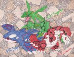 Kyogre Groudon Rayquaza by Macuarrorro