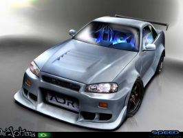 Nissan Skyline R34 by Johnny-Designer