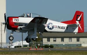 North American T-28 Landing by shelbs2