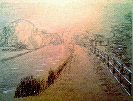 Canal sketch by blackeningafternoon