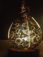 Handcrafted Gourdlamp II by LampParade