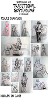Sketchdump 15: Traditional Sketchdump by mewDoubled