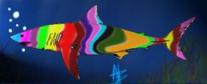 ...And then a wild neon shark appeared... by SpazMutt