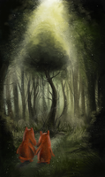 Into the woods by Llamacornrainbow