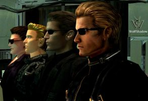 Four Wesker by WolfShadow14081990