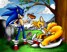 Sonic and Tails by g2ng2 by EllyTheGee
