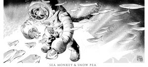 Kenny Wong's Sea Monkey and Snow Pea by cromagnus