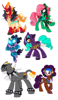 Villain and hero pony adoptables1 by Sakuyamon