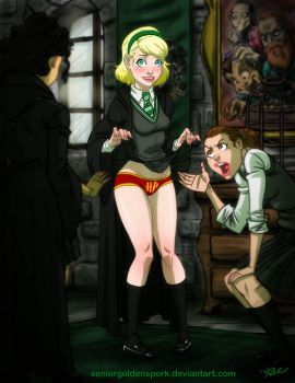 Slytherin House Traitor and Fangirl by ArtistAbe