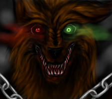 Horror Wolf Happy Halloween by Nowny