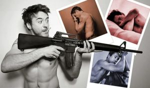 Robert Downey M16 w Polaroids by agilebrit