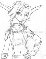 Jak X - Keira's racing outfit by Fay-san