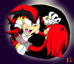Total Eclipse- Shadow Vs. Knuckles by MsLunarUmbreon