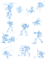 Lutrex Action Poses by Laserbot