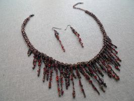 Dance of Fire necklace by Lexandritte