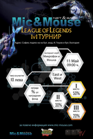 Mic and Mouse 1v1 Tournament Poster by ggeorgiev92